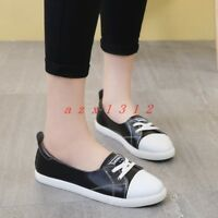 2019 Hot Women Round Toe Lace Up Flat Casual Q Shoes Loafer Athletic New Fashion