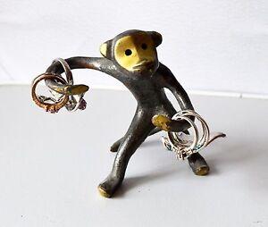 Walter Bosse,Monkey,Ring Holder,soviet vintage,brass figurine,mid century modern