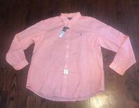 NWT Mens Ralph Lauren Polo Classic Fit Cotton Stretch LS Button Down 2XL Peach