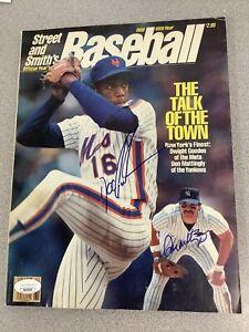 Don Mattingly Signed Street & Smiths Mag Baseball No Label NY Autograph JSA 1986