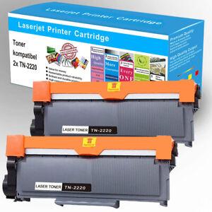 2x XXL Toner für Brother TN-2220 DCP-7055 DCP-7065DN HL-2130 MFC-7360N Fax-2840