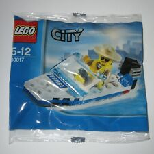 LEGO City 30017 Police Speed Boat - Rare Unopened Polybag Kit (NEW)