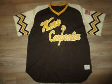 Kerr and Carpenter Minor League Game Used Worn Sand Knit Baseball Jersey Xl