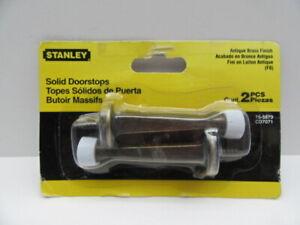 Stanley Hardware 75-5873 Solid Doorstops 3 Inch Antique Brass 2 Pack