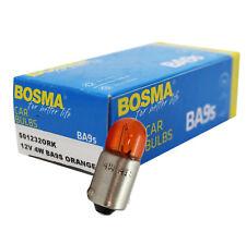 10 x Lampe Bosma BA9S 12V 4W Orange Premium Glühbirne für Blinker Tacho etc.