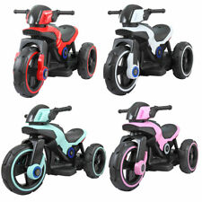 Electric Motorcycle 6V Kids Ride On Toy , w/ Training Wheels, LED Lights 4-color