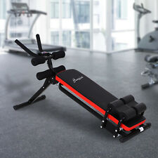 Abdominal Trainer Core Workout Exercise Foldable Adjustable Steel tube Black