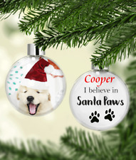 Personalised Pet Christmas Gift Bauble,  Santa Paws Baubles Gift, Dog Cat Photo