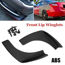 2×Universal Front Rear Bumper Lip Splitters Winglets Canards Front Lip Winglets