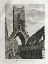 1792 Antique Print; St Francis Abbey, Kilkenny, Ireland by Grose / Brien