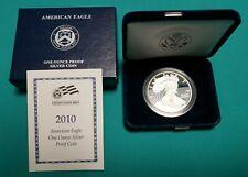 2010-(W) American Silver Eagle 1 Troy oz. .999 Proof Silver Dollar w/ Box & COA