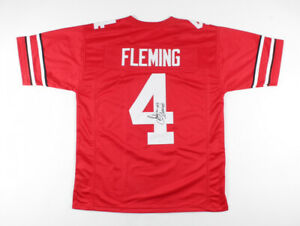 Julian Fleming  Signed Ohio State Buckeyes Jersey (JSA COA) 2021 Sophmore W.R.