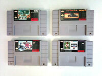 Lot of 4x Super Nintendo SNES Games [Carts Only] PTO Top Gear NHL Madden Koei