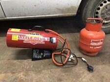 Space Heater Clarke Little Devil II with Gas Bottle Propane Industrial Heat
