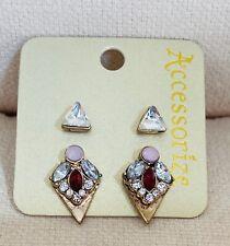 2 pairs of Accessorize triangle stud earrings (unworn)