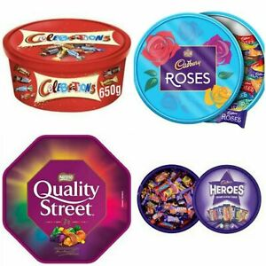 Celebration, Heroes, Roses, Quality Street Chocolates Tub/Tin/Pouch Gift