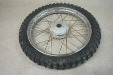 1974 74 Honda MR50 MR 50 Elsinore OEM Front Wheel Rim Tire Hub