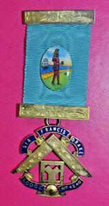 Masonic Past Master's Jewel Sir Francis Drake Lodge No 4240 sterling silver