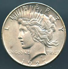1927 Peace Dollar Mint State Condition