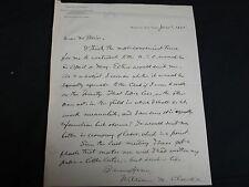 William N. Clarke Autographed Letter Signed