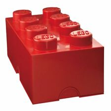 LEGO STORAGE BRICK 8 RED KIDS STORAGE BEDROOM PLAYROOM FREE P+P