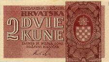 Croatia / Hrvatska P-8 2 kune 1942 UNC