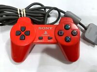 SONY Playstation PS1 Red Wired Controller TESTED SCPH-1080 Official OEM Rare