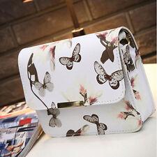 Women Lady Shoulder Bag Floral Tote Handbag Faux Leather Messenger Satchel Purse