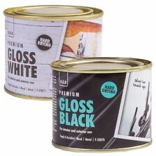180ml HARD DRYING BLACK / WHITE GLOSS PAINT Metal Wood Concrete Floor Door Gate