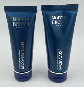 Molton Brown For Men African Whitewood Face Wash 100ml & Post Shave Recovery Bal