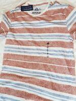 American Rag Men's Multi-Stripe Rose Dust T-Shirt TEE