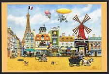 WARNER BROS PARIS EN AVRIL GICLEE PROMO CARD BUGS BUNNY PORKY PIG DAFFY DUCK