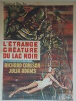 """""""L'ETRANGE CREATURE DU LAC NOIR (CREATURE FROM BLACK LAGOON)"""" Affiche entoilée"""