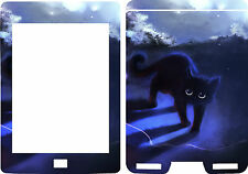2012 Kindle Touch Ebook Reader Skin Cover pegatina de vinilo Azul Cat Gatito Kt23