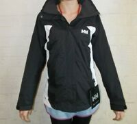 WOMENS HELLY HANSEN GALWAY WATERPROOF JACKET - SIZE SMALL - BLACK/WHITE - BNWT.