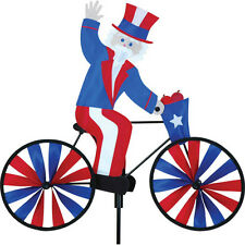 """Uncle Sam on a Bike 20"""" Approx. Staked Wind Spinner.15. Pr 26858"""