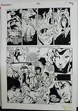 JACK KIRBY'S TEENAGENTS #2 PAGE 7 1993 ORIGINAL ART-NEIL VOKES & JOHN BEATTY Comic Art