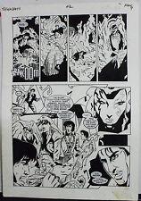 JACK KIRBY'S TEENAGENTS #2 PAGE 7 1993 ORIGINAL ART-NEIL VOKES & JOHN BEATTY