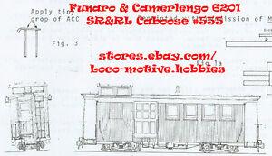 Funaro F&C 6201 HOn2-1/2 HOn30 SR&RL Sandy River Rangeley Lakes Wood CABOOSE 555