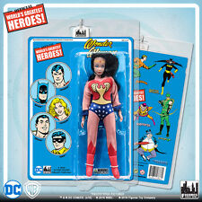 Official DC Comics Wonder Woman 8 inch Action Figure on Mego Style Retro Card