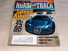 Road & TRACK 2011 Car Truck REVISTAS Bugatti Veyron SS PORSCHE 911 Nissan GT-R