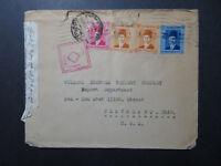 Egypt 1940 Dual Censor Cover to USA - Z10844