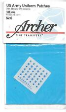 Archer Dry Transfer US Infantry Division Uniform Patches 1/35 039, 79th, 88th ID