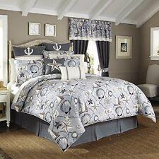 Nip Croscill Home Yachtsman Sealife Queen Comforter Bedskirt & Shams Set