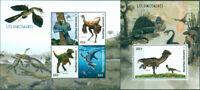 DINOSAURS PREHISTORIC ANIMALS FAUNA MNH STAMPS SET
