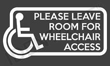 Wheelchair Disabled Access Car Window Sticker Vinyl Decal