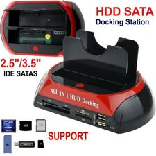 """Station d'accueil pour disques dur 2,5""""3,5""""Sata Ide Sata 2 USB2.0 Lecteur HDD SD"""
