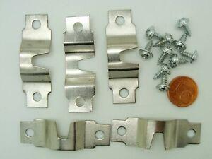 5 languettes crochet suspension attache cadre tableau métal argenté 47mm vis