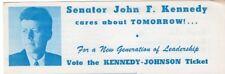 1960 Senator John F Kennedy Cares About Tomorrow Flyer