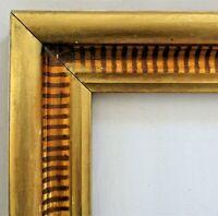 "ANTIQUE Fits 10"" X 12"" LEMON GOLD GILT STENCILED FRAME FINE ART VICTORIAN"